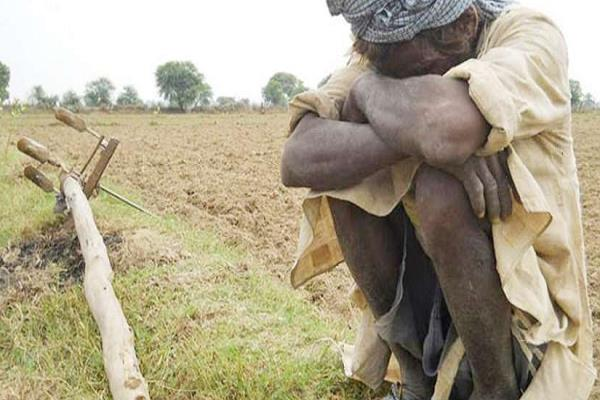 farmer suffering from debt acne poison serious condition