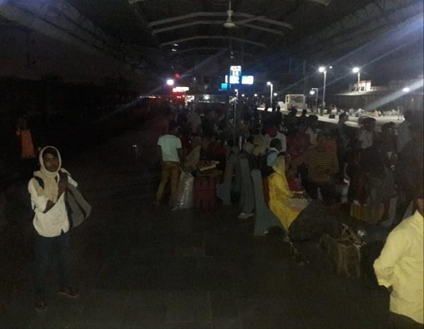black out in railway station jalandhar