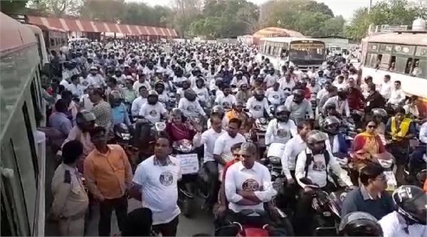 administration raises awareness voting percentage in mirzapur