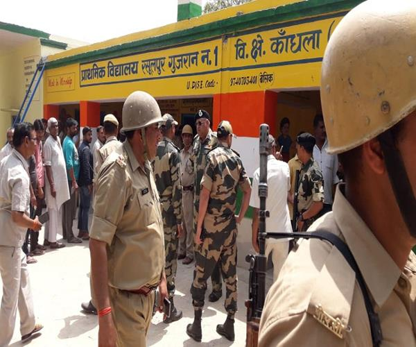people were trying to vote without id in kairana bsf fired air firing