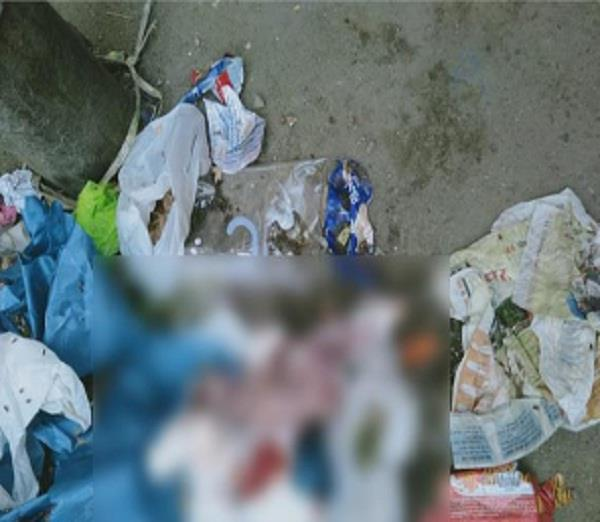 new born child dead body found