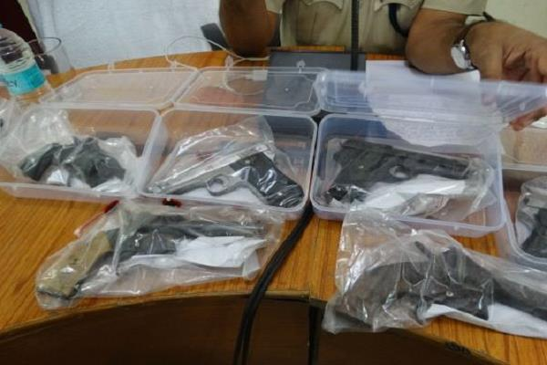 a large number of arms seized by police in one