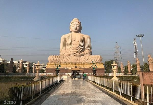 construction of buddha s 200 ft high statue in kushinagar starting from may