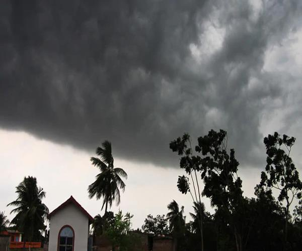 rain and hail warning with hurricane storm in up