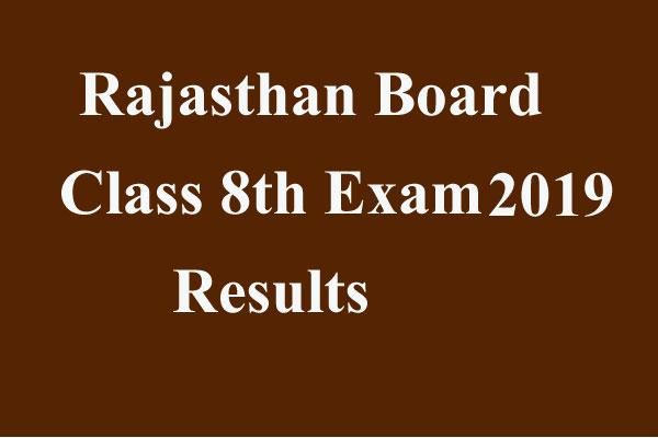 results of rajasthan board 8th may be declared earlier
