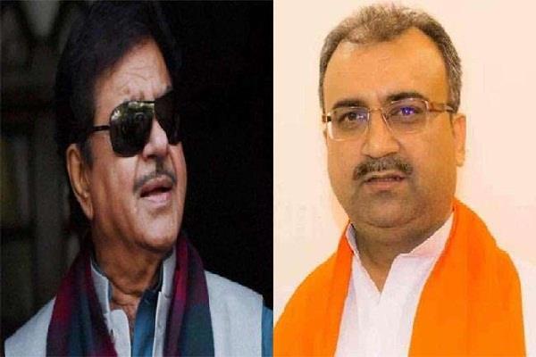 bjp leader targets shatrughan sinha