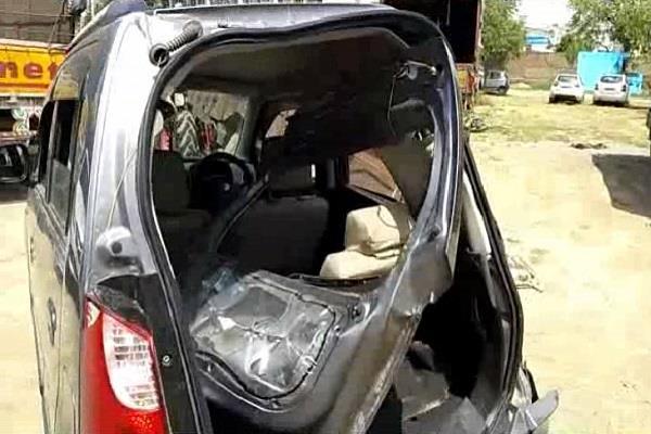 high speed haryana roadways bus hit elderly