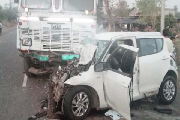 4 killed 1 injured in rajasthan road accident