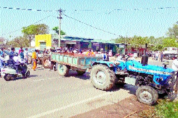 villagers protested with dead body