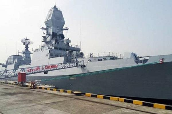 guided missile destroyers ship imphal launch