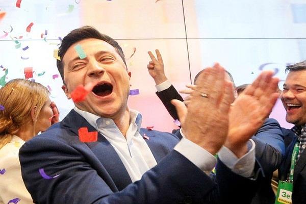 comedian jelensky won the presidential election in ukraine