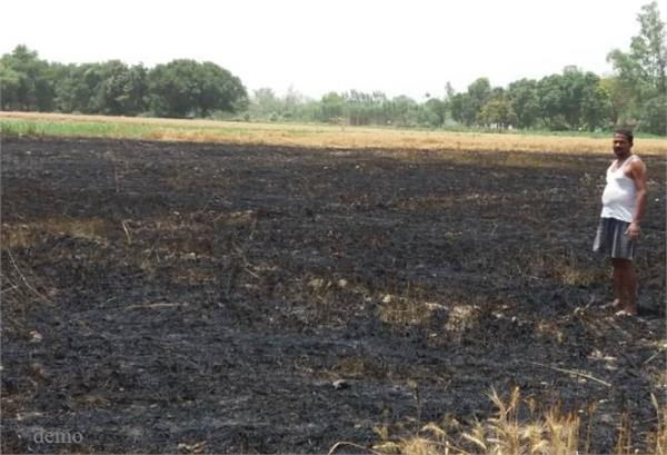 jhansi fire in the fields water harvested in fields