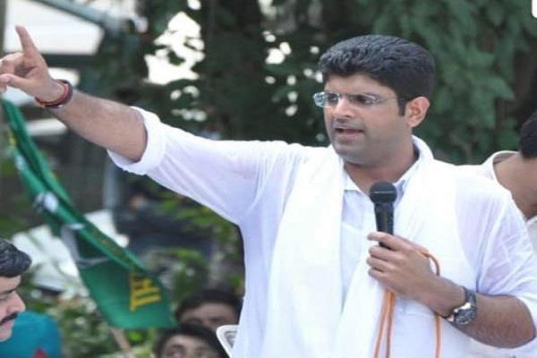 dushyant chautala denies coalition with congress