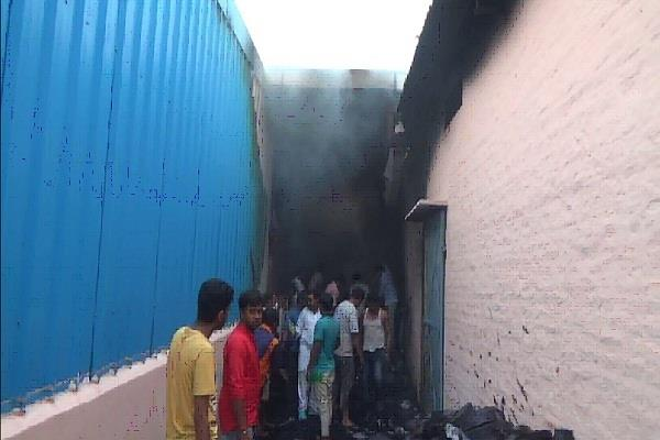 fire burns in the factory loss of millions