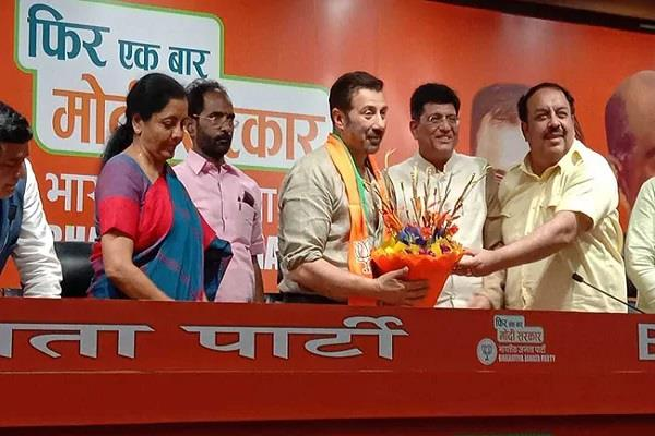 bjp releases list of 2 candidates sunny deol declared candidate gurdaspur
