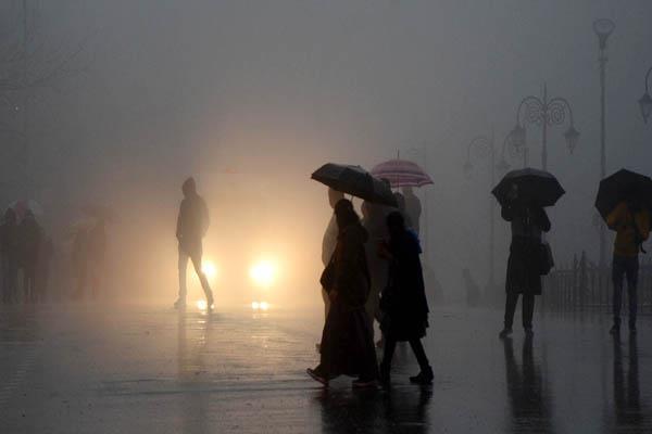 shimla area cloud rain