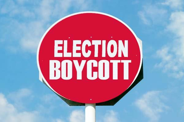 announcement of election boycott