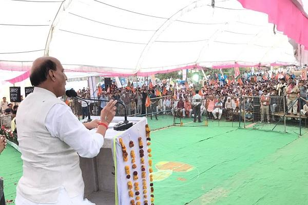 why congress can not praise modi for answering pak rajnath