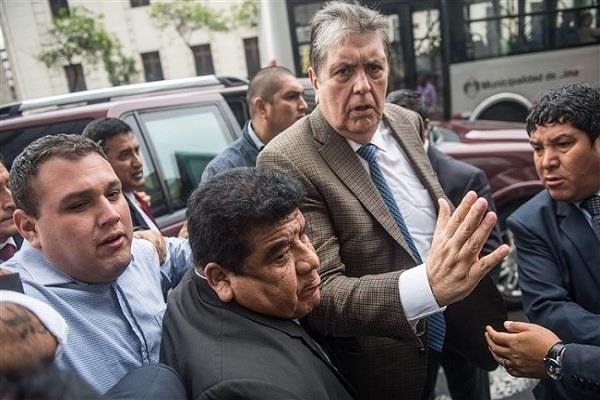 fear of arrest peru s former president garcia shot himself