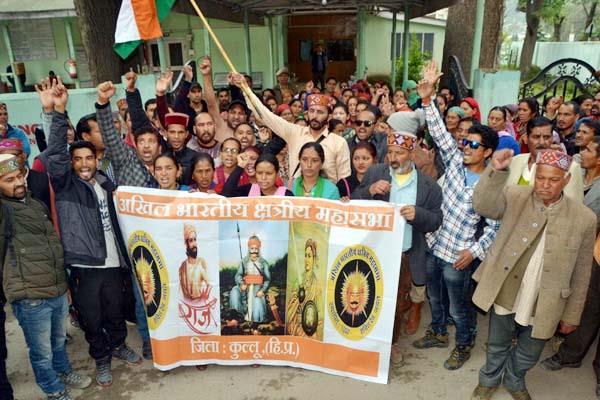 rally of akhil bhartiya kshatriya mahasabha in dhalpur