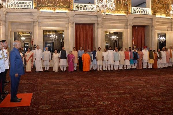 president ramnath kovind delivered dinner to the outgoing modi cabinet