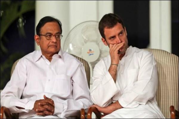 chidambaram speaks at rahul s resignation workers can suicide
