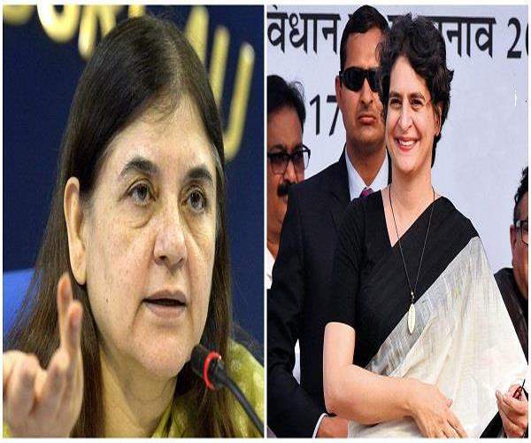 priyanka will launch road show in sultanpur against aunt menaka on may 9
