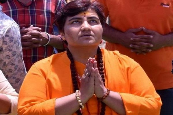 sadhvi pragya surrounded by controversial statement on godse