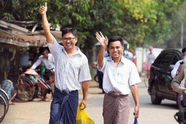 myanmar president release the two journalistm watch video