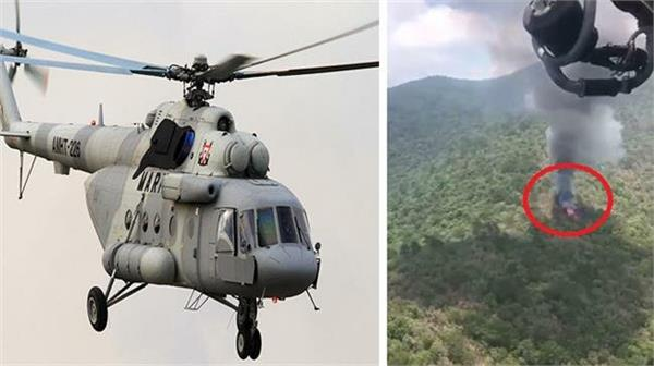 mexican military helicopter crashes killing six