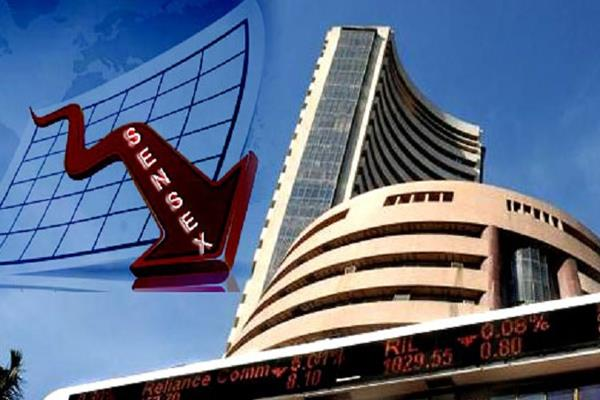 sensex down 245 points below nifty 11450