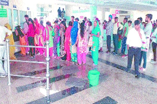during the trials cracked pipe civil hospital water water