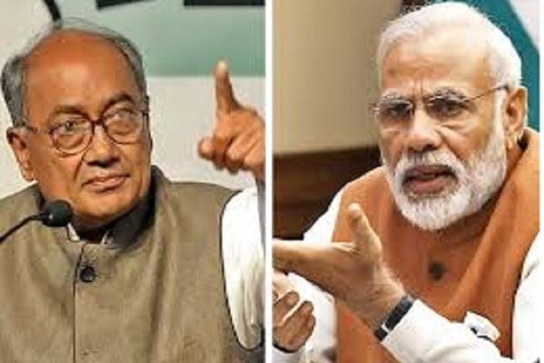 digvijay singh surrounds pm modi asks ten questions