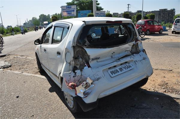 accident in maqsudan flyover