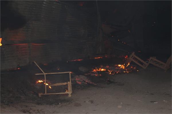 lakhnaur furniture market fire 3 shops ash