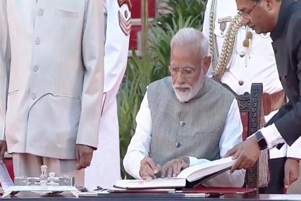 PunjabKesari Prime Minister Narendra Modi Shapath grahan