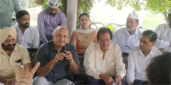 chandigarh to reach sisodia for support of harmohan dhawan