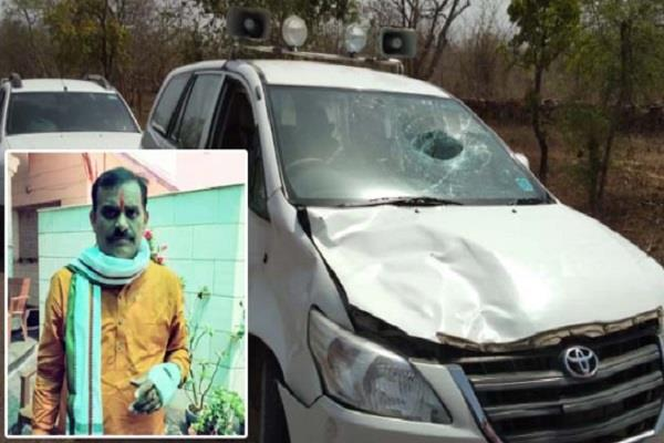 bjp candidate vd sharma recovered from vehicle