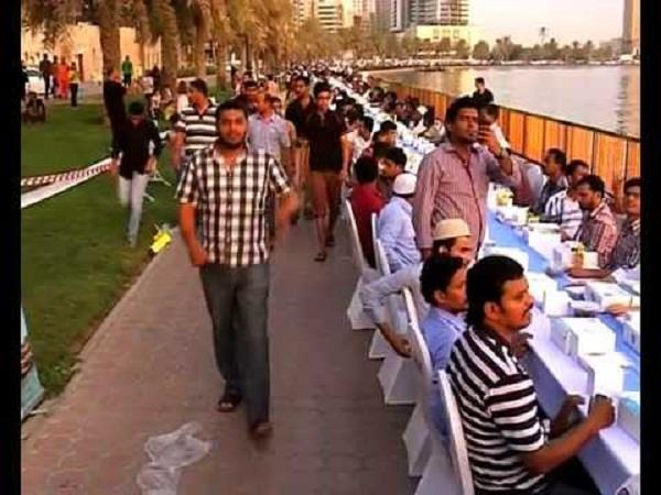 indian ngo in uae enters guinness world records for longest iftar