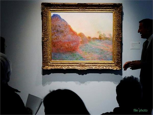 claude monet meules painting draws 110 7 million at new york