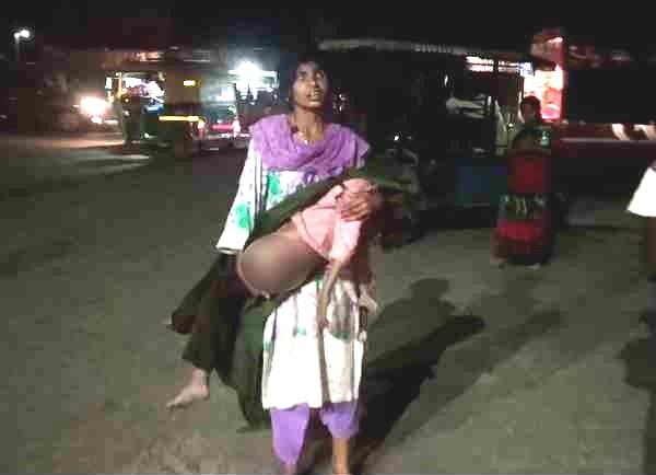 son s dead body was carried out in the arms