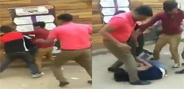 the owner beat the sareraha pandits video viral
