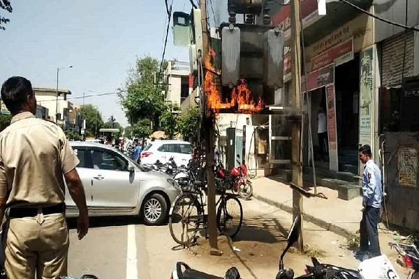fire in electricity transformer avoided big accident