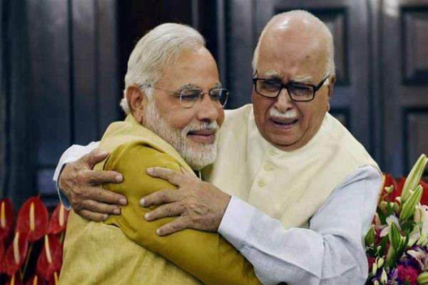 lk advani congratulates pm modi