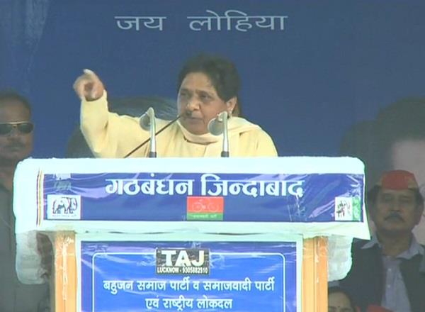 mayawati does not sit she returns to gorakhnath math for yogi