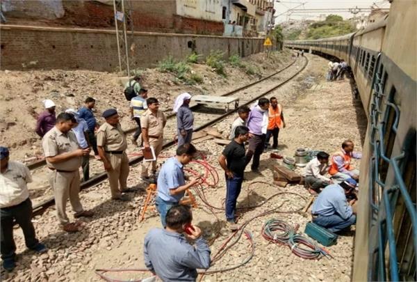 passenger train bogie derailed