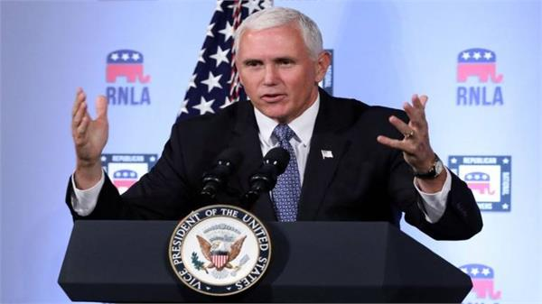 pence says first woman to land on moon will be american