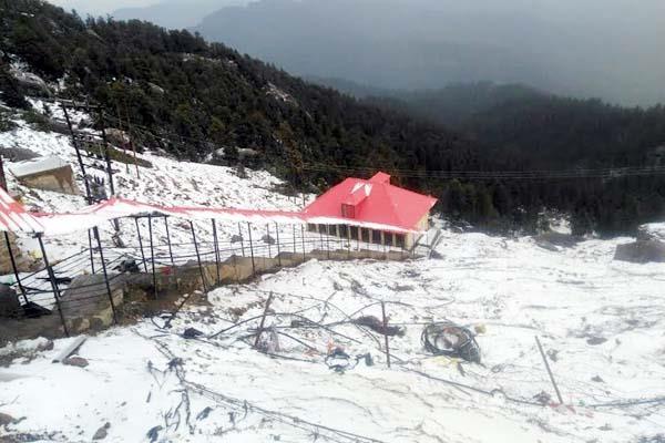 snowfall on churdhar peak