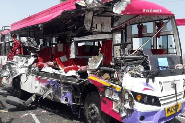 truck and bus accident