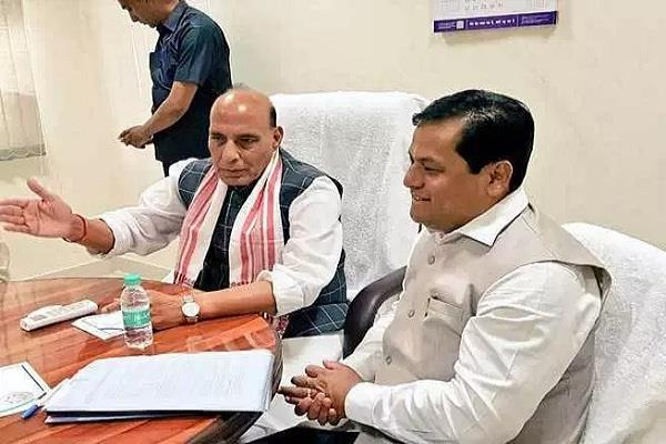 nrc rajnath sonowal s review of situation in assam
